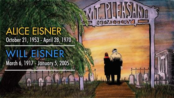 Will Eisner and Alice Eisner Memorial Tribute Illustration