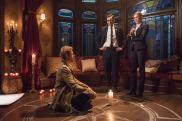 Pictured (L-R): Matt Ryan as Constantine, Adam Tsekhman as Agent Gary Green and Jes Macallan as Ava Sharpe. Photo courtesy of DC Legends TV.