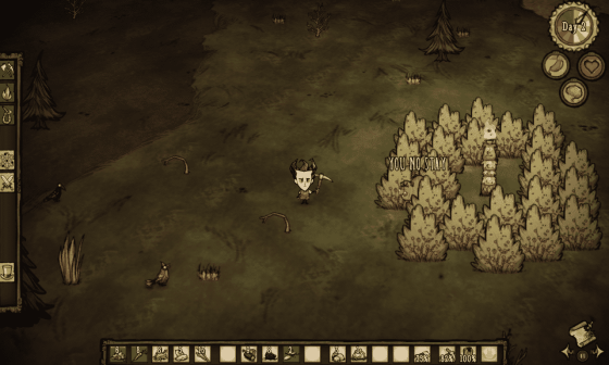 Pigman protecting a grove of berry bushes