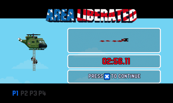 Completed Level Screen - Screenshot of Broforce by Free Lives