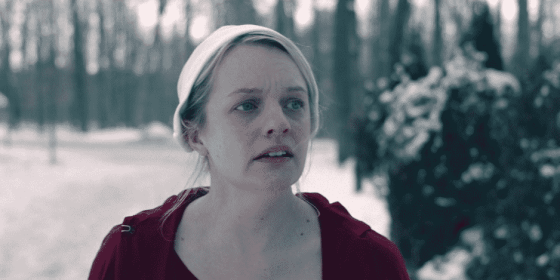 "June (Elisabeth Moss) on The Handmaid's Tale ""Holly"""