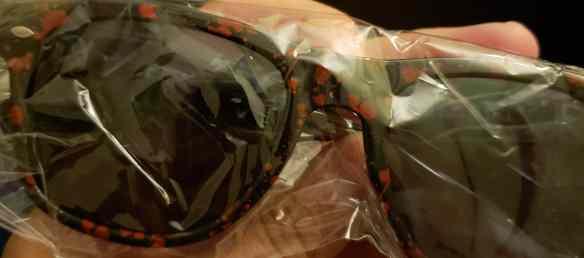 Blood splattered walker sunglasses. Photo Credit: Jon Hicks/The Game of Nerds