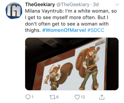 Women of Marvel SDCC Panel