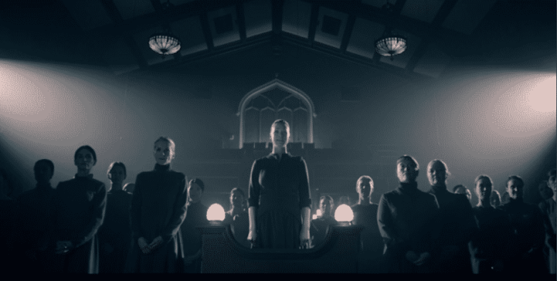 Serena and the wives on The Handmaid's Tale