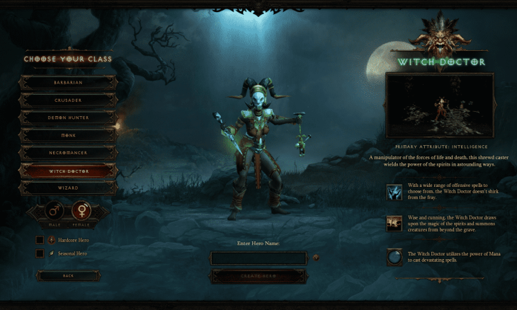 Witch Doctor Class
