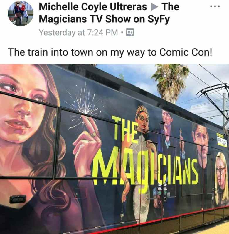 The magicians train sdcc