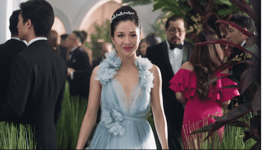 Constance Wu as Rachel Chu in Crazy Rich Asians
