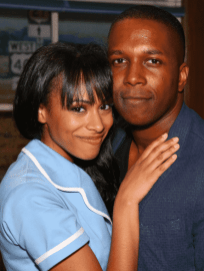 Robinson and her husband, Leslie Odom Jr. Photo by Walter McBride, BroadwayWorld.