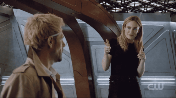 Constantine and Sara on DC's Legends of Tomorrow