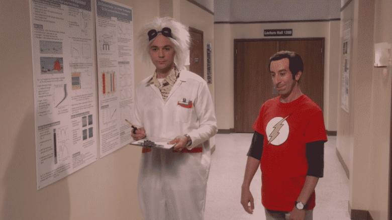Sheldon and Howard on The Big Bang Theory
