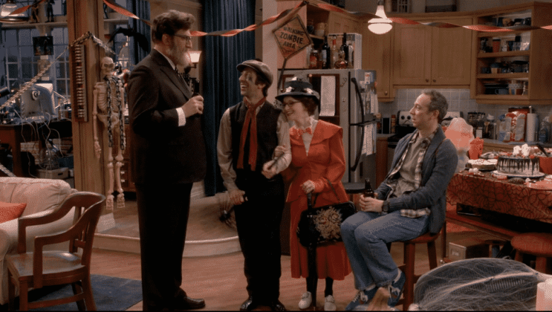 Bert, Howard, Bernadette, and Stewart on The Big Bang Theory