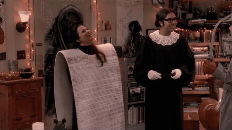 Anu and Raj on The Big Bang Theory
