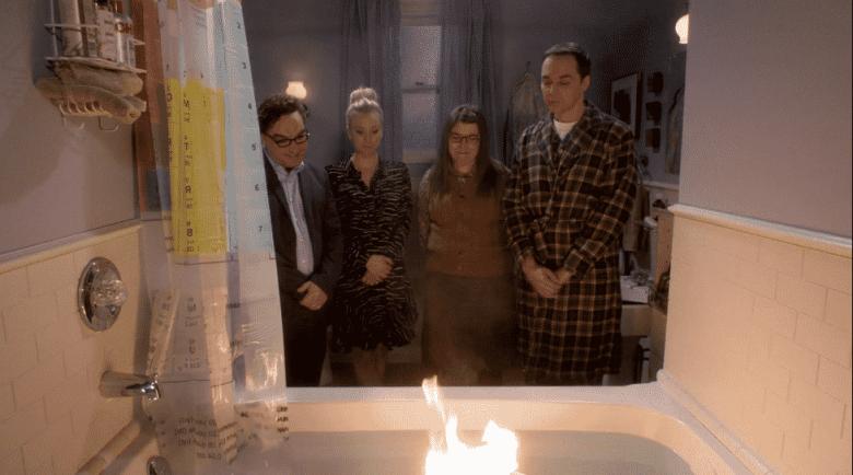 Viking funeral on the Big Bang Theory