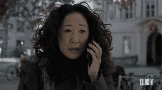 Sandra Oh as Eve Polastri on Killing Eve.