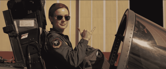 Brie Larson as Carol Danvers in Captain Marvel.