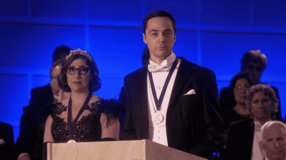 Amy and Sheldon on The Big Bang Theory series finale