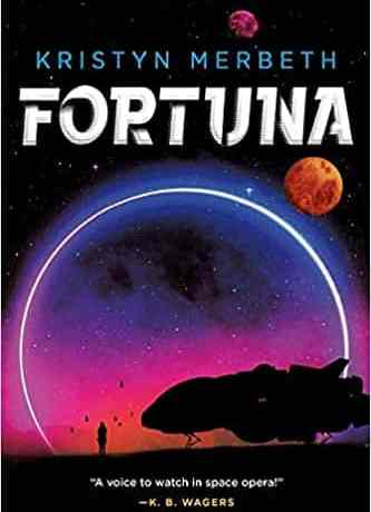 Cover art for Fortuna features a silhouette of a ship and a pilot against a lunar eclipse.