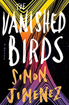Cover art for The Vanished Birds which features an abstract yellow and purple design against a field of stars.