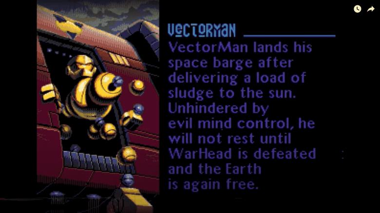 Vectorman Turns 25: Splash Screens