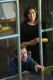 "Season 12 BONES: L-R: TJ Thyne and Michaela Conlin in the ""The Final Chapter: The Day In the Life"" episode of BONES airing Tuesday, March 21 (9:01-10:00 PM ET/PT) on FOX. ©2017 Fox Broadcasting Co."