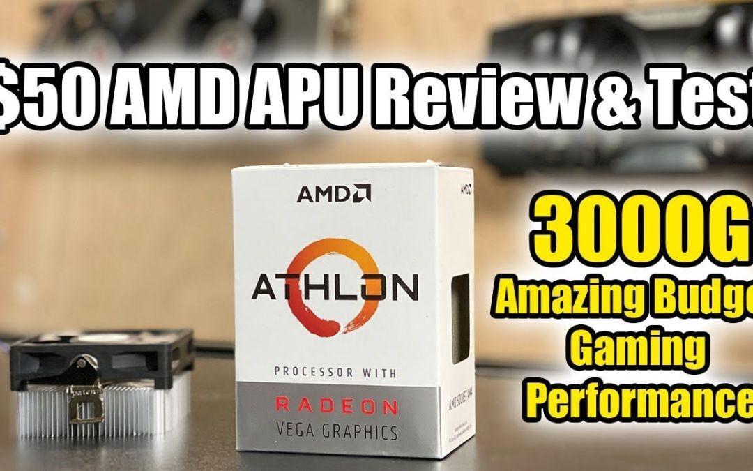 AMD Athlon 3000G -Amazing Budget iGPU Performance!