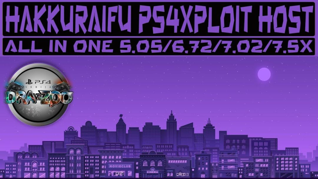 HAKKURAIFU PS4xploit Host | All in One PS4 5.05/6.72/7.02/7.50/7.51/7.55