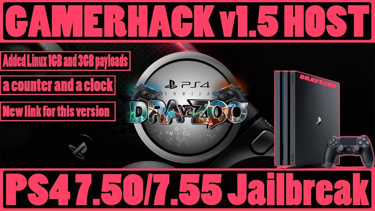 PS4 7.50/7.55 Jailbreak GamerHack v1.5 HOST + Offline Cache (a counter and a clock) | GoldHEN 1.1