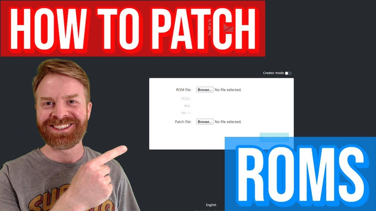 How to patch a ROM: Romhacking – easy tutorial