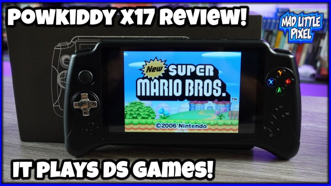 The POWKIDDY X17 It Plays Nintendo DS Games & Stuff! Newest Android Handheld For 2021!