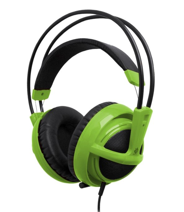 SteelSeries Siberia V2 Full Size Headset with Microphone Green