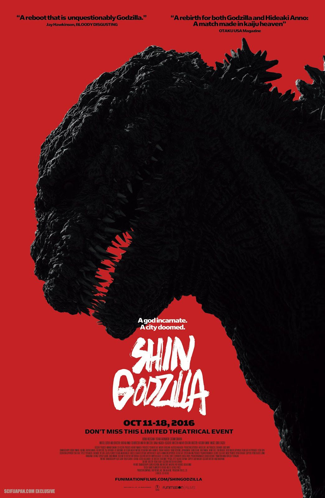 Shin Godzilla American Movie Poster (Toho Co. Ld.)