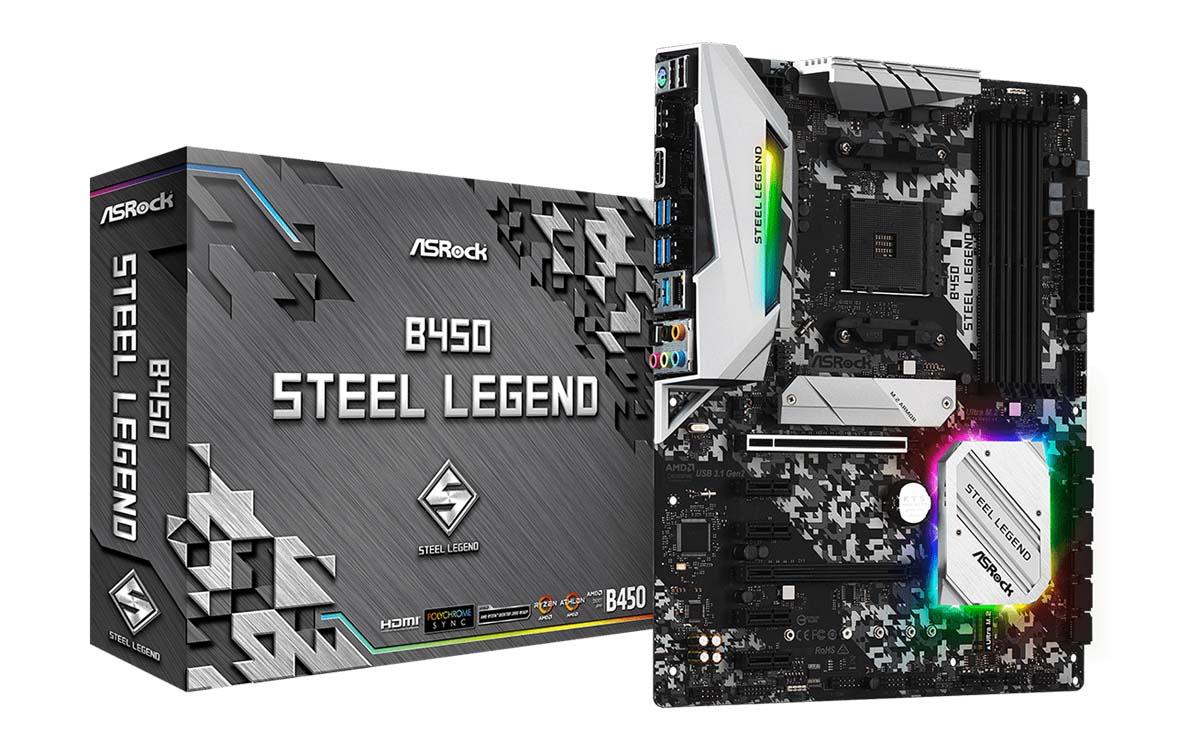 ASRock_B450_Steel_Legend_Motherboard