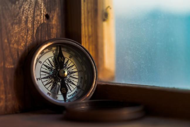 life compass, purpose, hamster on wheels, true north