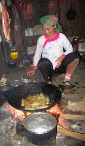 Delicious homestay food near Sapa, Vietnam