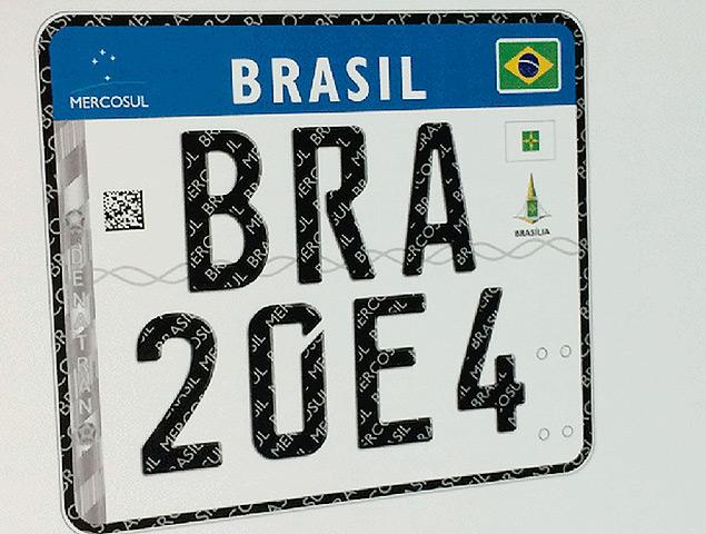 Placa de Carro Mercosul
