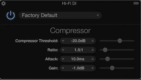 Garageband 10.0.3 compressor