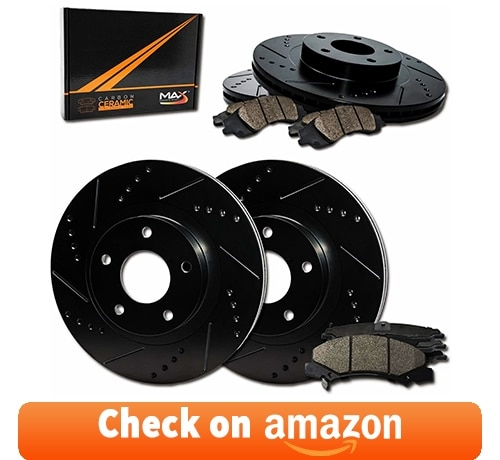 Max Brakes E-Coated Slotted Drilled Rotors w/Ceramic Brake Pads review
