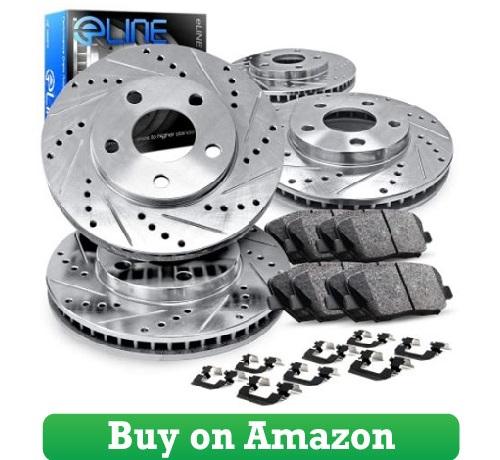 eLine Drilled Slotted Brake Rotors [COMPLETE KIT]