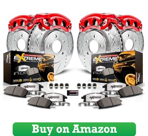 Power Stop KC2010B-36 Front & Rear Z36 Truck and Tow Brake Kit with Calipers