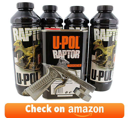 U-Pol 0820V-Gun Black Truck Bed Liner Kit
