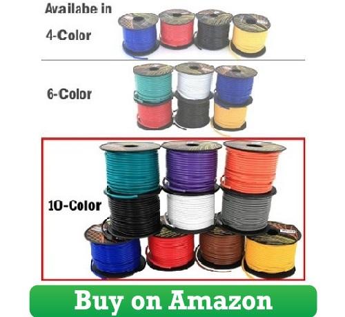 16 GA Primary Wire 10 Roll Color Combo 100 ft per Color CCA Cable