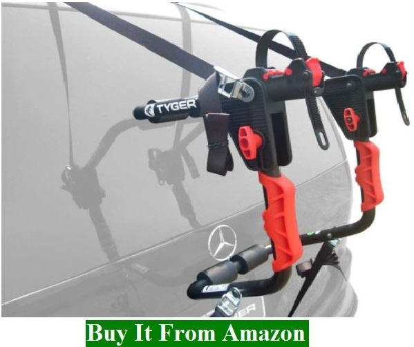 Tyger Auto TG-RK1B204B Deluxe Black 1-Bike Trunk Mount Bicycle Carrier Rack. (Compatible with Most