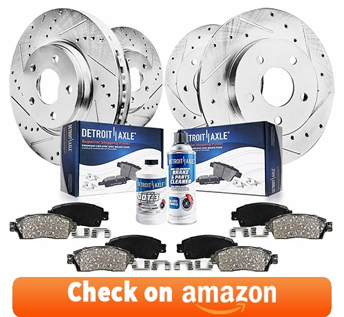 Detroit Axle - Front Rear Disc Rotors Ceramic Brake Pads - 10pc Setreview