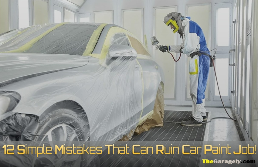 Simple Mistakes That Can Ruin Car Paint Job!