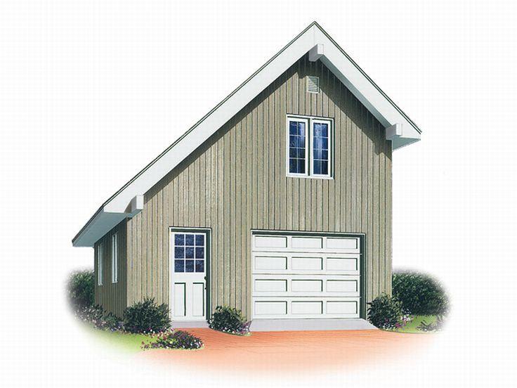 1-Car Garage Loft Plan # 028G-0001 At