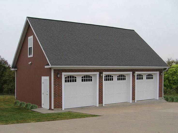 3-Car Garage Loft Plan #009G