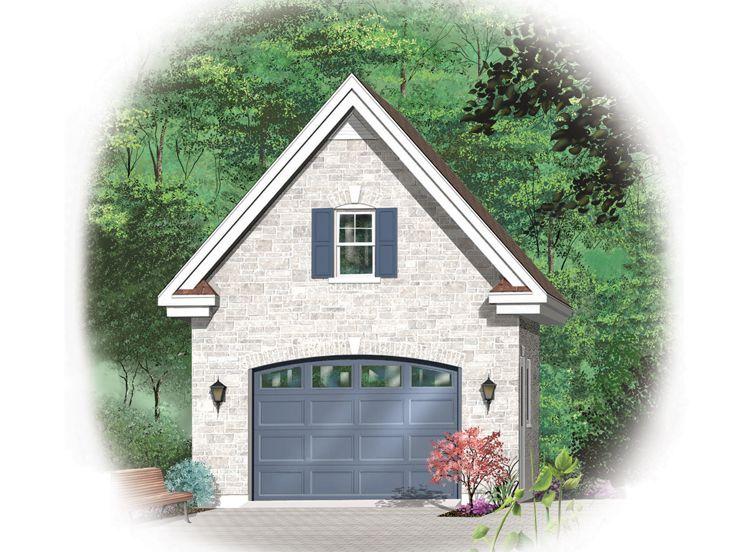 1-Car Garage Loft Plan With Reverse