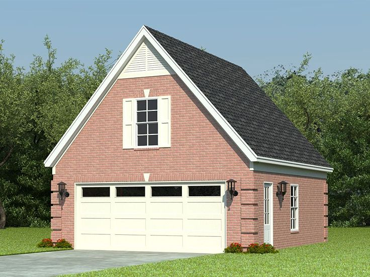 2-Car Garage Loft Plan With Reverse