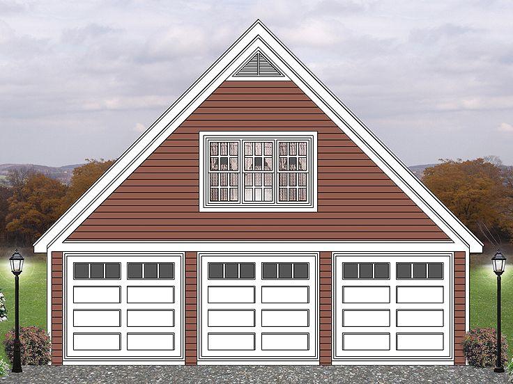 Three-Car Garage Loft Plan Offers