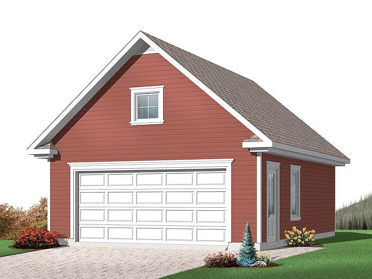 Detached 2-Car Garage Plan With